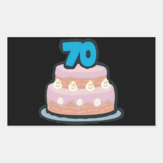 70th Birthday Rectangular Sticker