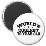 70th Birthday Refrigerator Magnets