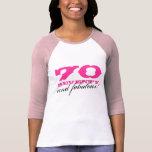 70th Birthday shirt | 70 and fabulous!