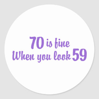 70th Birthday Stickers