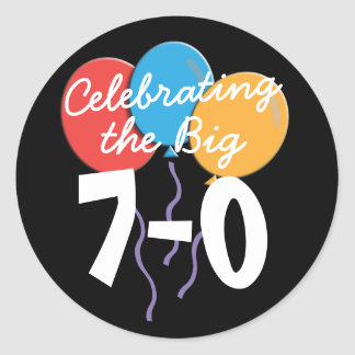 70th Birthday Stickers Celebrating the Big 70