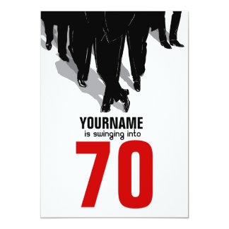 70th Birthday Swingers Rat Pack Party Card
