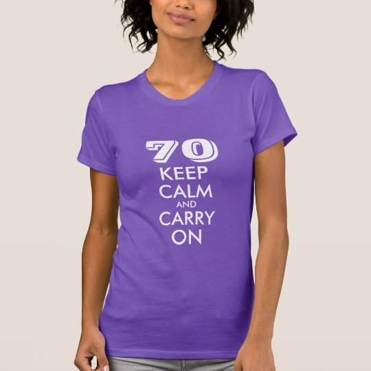 70th Birthday t shirt for women | Customisable