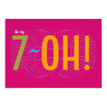 70th Birthday - the Big 7-OH! 13 Cm X 18 Cm Invitation Card