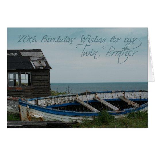 70th Birthday Twin Brother Card