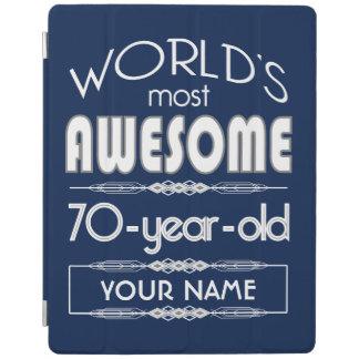 70th Birthday Worlds Best Fabulous Dark Blue iPad Cover