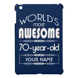 70th Birthday Worlds Best Fabulous Dark Blue Cover For The iPad Mini