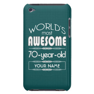 70th Birthday Worlds Best Fabulous Dark Green iPod Touch Cases