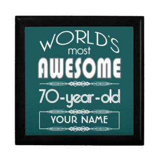 70th Birthday Worlds Best Fabulous Dark Green Keepsake Box