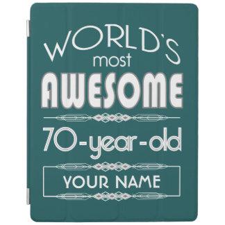 70th Birthday Worlds Best Fabulous Dark Green iPad Cover