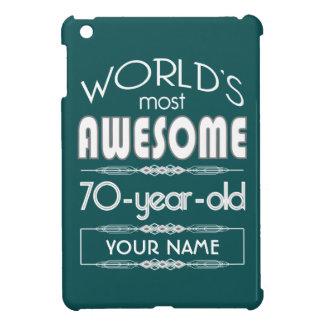 70th Birthday Worlds Best Fabulous Dark Green iPad Mini Cases
