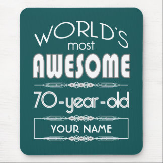 70th Birthday Worlds Best Fabulous Dark Green Mouse Pad
