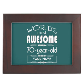 70th Birthday Worlds Best Fabulous Dark Green Memory Box