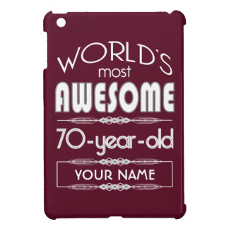 70th Birthday Worlds Best Fabulous Dark Red Cover For The iPad Mini