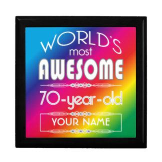 70th Birthday Worlds Best Fabulous Rainbow Jewelry Box