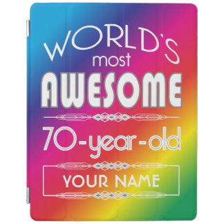 70th Birthday Worlds Best Fabulous Rainbow iPad Cover