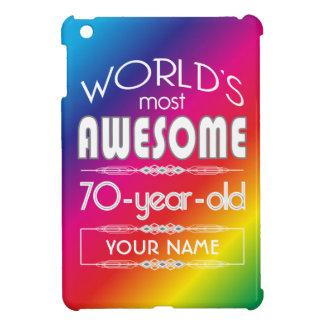 70th Birthday Worlds Best Fabulous Rainbow iPad Mini Cover