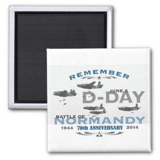 70th D-Day Air Battle of Normandy Anniversary Square Magnet