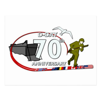 70th D-Day anniversary Postcard