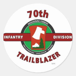 "70TH INFANTRY DIVISION ""TRAILBLAZER"" STICKERS"