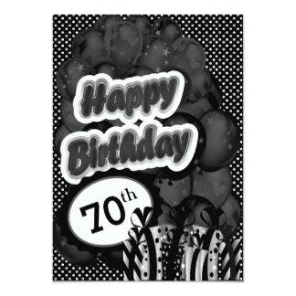 70th Milestone Birthday 13 Cm X 18 Cm Invitation Card