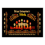 70th SURPRISE Birthday Party Candles Invitation