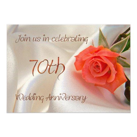 70th wedding anniverary party invitation