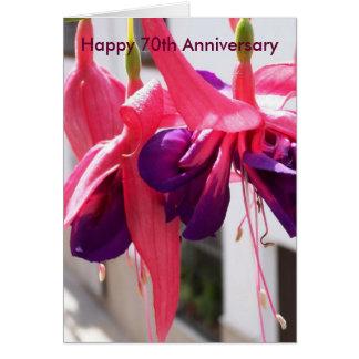 70th Wedding Anniversary Fuchsias Card