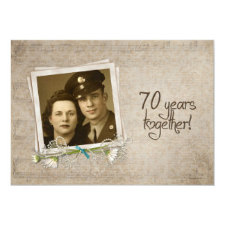 70th Wedding Anniversary Open House Card