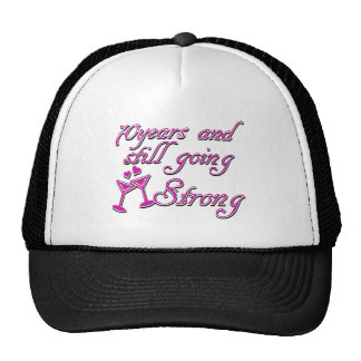70th year anniversary trucker hats