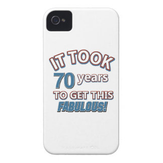 70th year birthday designs iPhone 4 Case-Mate cases