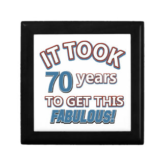 70th year birthday designs keepsake box