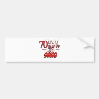 70th year old birthday designs bumper sticker