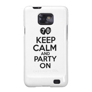 70th year old birthday designs galaxy s2 cover