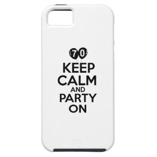 70th year old birthday designs iPhone 5 cases