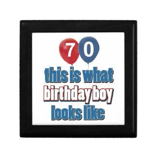 70th year old birthday designs keepsake box