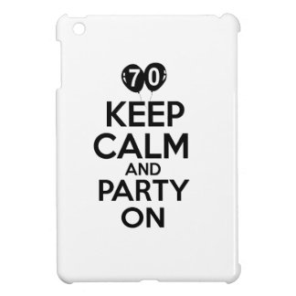 70th year old birthday designs iPad mini cover