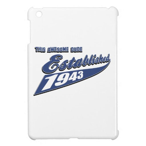 70th year old birthday designs case for the iPad mini