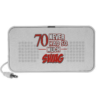 70th year old birthday designs portable speakers