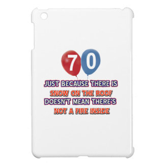 70th year old snow on the roof birthday designs cover for the iPad mini