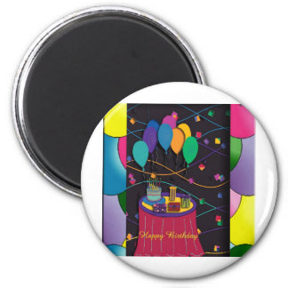 70thsurprisepartyyinvitationballoons copy 6 cm round magnet