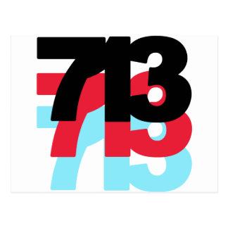 713 Area Code Postcard