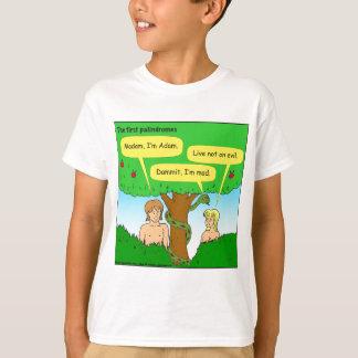 715 adam and eve palindromes cartoon t-shirts