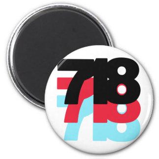 718 Area Code Magnet