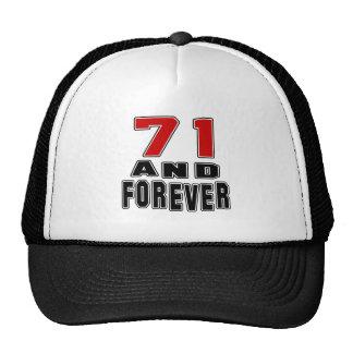 71 birthday designs mesh hat