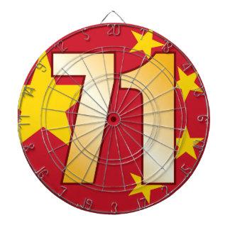 71 CHINA Gold Dartboard