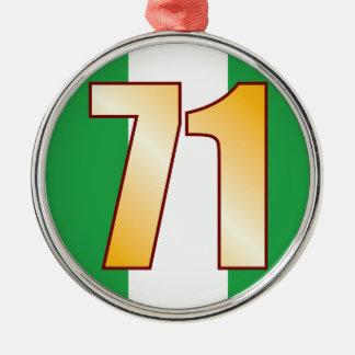 71 NIGERIA Gold Christmas Ornament