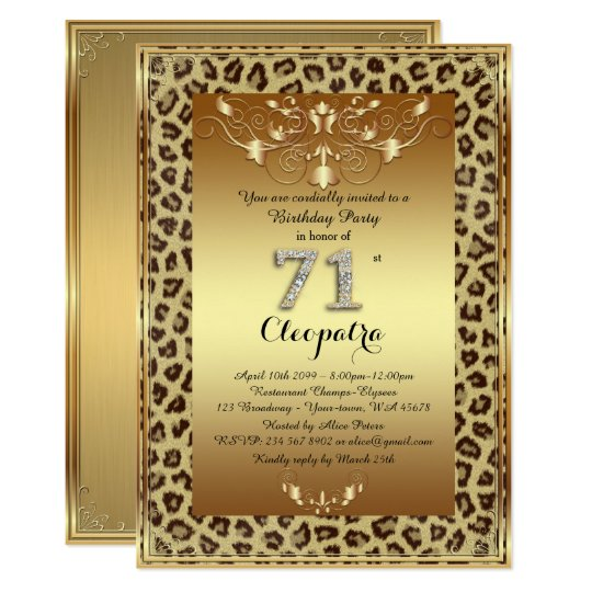 71st, Birthday Party 71st, Royal Cheetah gold plus
