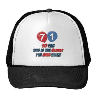 71st year old birthday gift trucker hats