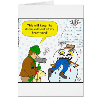 720 keep kids out of my front yard cartoon greeting card